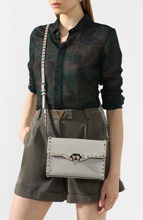 Женская сумка valentino garavani rockstud medium VALENTINO светло-серого цвета, арт. TW0B0181/VSF | Фото 2