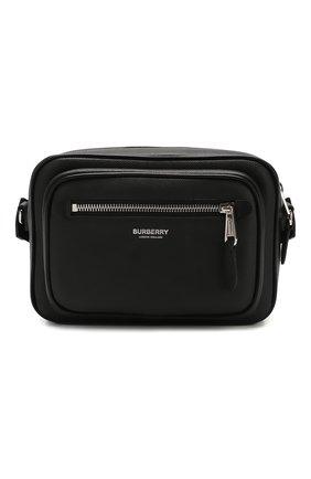 Мужская кожаная сумка BURBERRY черного цвета, арт. 8026555 | Фото 1