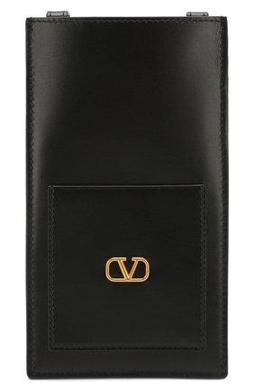 Мужского кожаный чехол valentino garavani для iphone VALENTINO черного цвета, арт. TY0P0R52/XBX | Фото 1