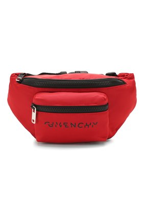 Мужская текстильная поясная сумка GIVENCHY красного цвета, арт. BK5037K0WA | Фото 1
