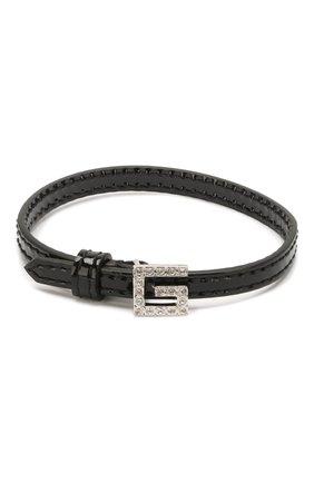 Женский кожаный браслет GUCCI черного цвета, арт. 623237/J1784 | Фото 1