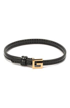 Женский кожаный браслет GUCCI черного цвета, арт. 623238/J1745 | Фото 1
