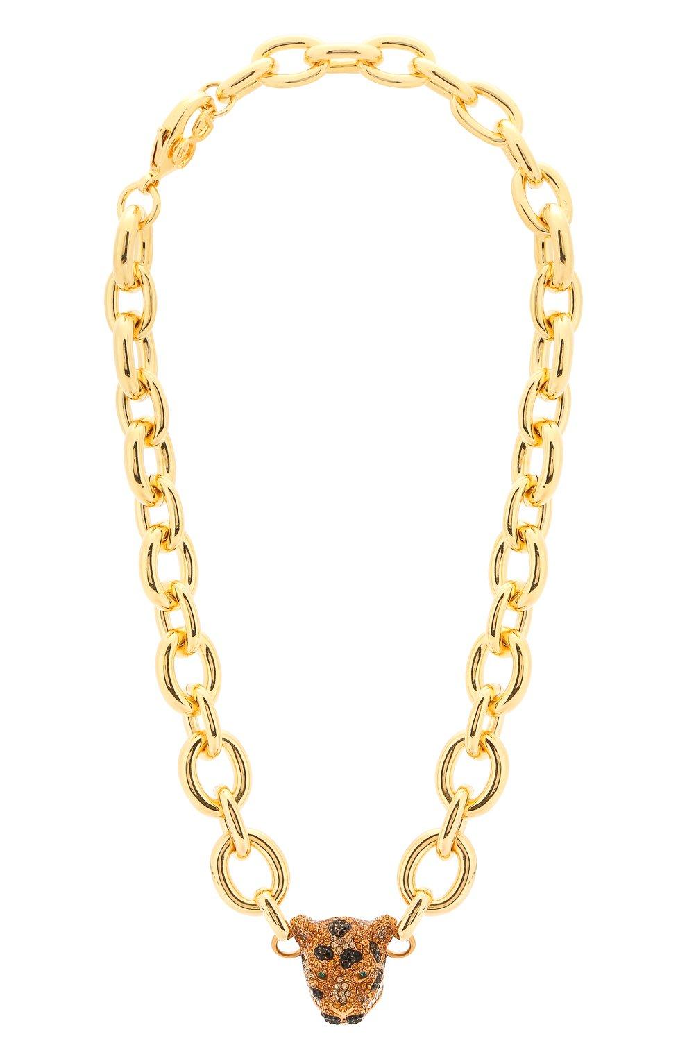 Женское колье DOLCE & GABBANA золотого цвета, арт. WNM4A1/W1111   Фото 1