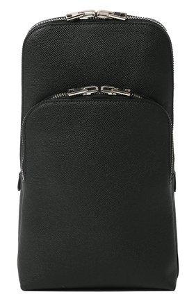 Мужской кожаный рюкзак TOM FORD черного цвета, арт. H0420P-LCL080   Фото 1