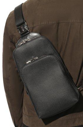 Мужской кожаный рюкзак TOM FORD черного цвета, арт. H0420P-LCL080   Фото 2