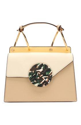 Женская сумка phoebe bis DANSE LENTE коричневого цвета, арт. PH0EBE BIS/TAN/MARSHMALL0W | Фото 1
