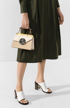 Женская сумка phoebe bis DANSE LENTE коричневого цвета, арт. PH0EBE BIS/TAN/MARSHMALL0W | Фото 2