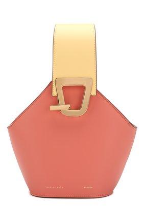 Женская сумка johny mini DANSE LENTE розового цвета, арт. MINI J0HNNY/PEACH/LEM0N | Фото 1