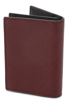 Мужской кожаный футляр для кредитных карт DUNHILL бордового цвета, арт. DU20R2470CA | Фото 2