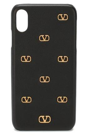 Мужской кожаный чехол valentino garavani для iphone xs max VALENTINO черного цвета, арт. TW2P0S88/DRT | Фото 1
