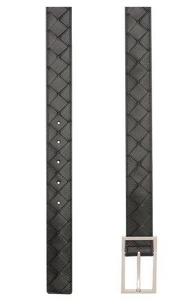 Мужской кожаный ремень BOTTEGA VENETA черного цвета, арт. 620223/VCPQ4 | Фото 2
