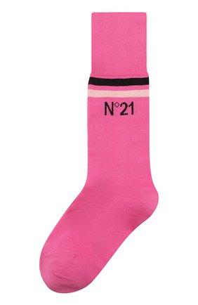 Женские хлопковые носки NO. 21 фуксия цвета, арт. 20E N2P0/6301/6901 | Фото 1
