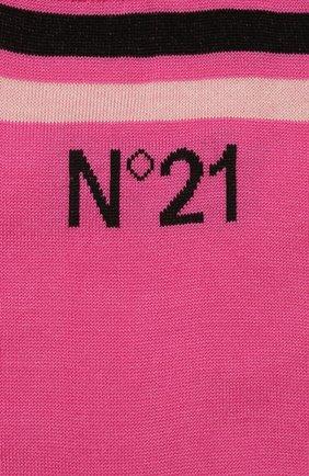 Женские хлопковые носки NO. 21 фуксия цвета, арт. 20E N2P0/6301/6901 | Фото 2