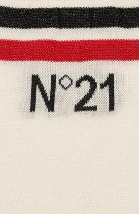 Женские хлопковые носки NO. 21 белого цвета, арт. 20E N2P0/6301/6901 | Фото 2