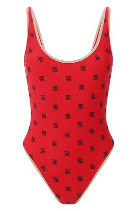 Женский слитный купальник FENDI красного цвета, арт. FXB925 AB49 | Фото 1