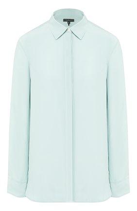 Женская шелковая рубашка RAG&BONE голубого цвета, арт. WAW19HA0227122   Фото 1