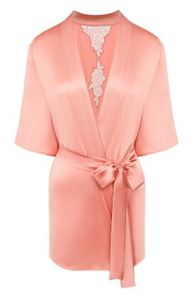 Женский шелковый халат FLEUR OF ENGLAND розового цвета, арт. FT1638 | Фото 1