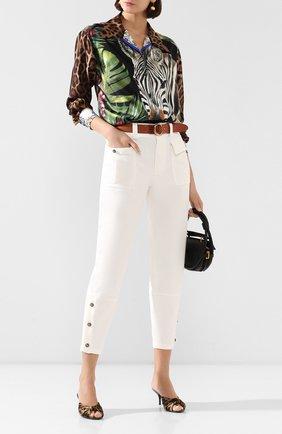 Женские хлопковые брюки DOLCE & GABBANA белого цвета, арт. FTBRRT/FCFAE | Фото 2