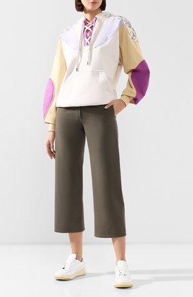 Женская хлопковый худи ISABEL MARANT ETOILE бежевого цвета, арт. SW0206-20P034E/NANSYLIA   Фото 2