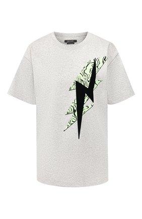 Женская хлопковая футболка ISABEL MARANT серого цвета, арт. TS0462-20P032I/YATES | Фото 1