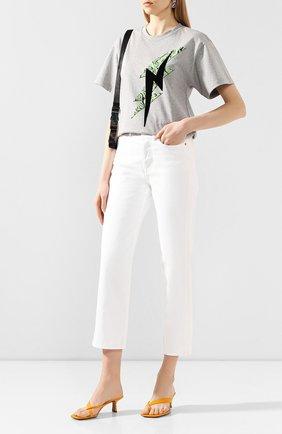 Женская хлопковая футболка ISABEL MARANT серого цвета, арт. TS0462-20P032I/YATES | Фото 2