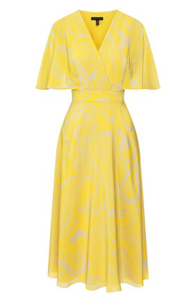 Женское шелковое платье ESCADA желтого цвета, арт. 5032889 | Фото 1