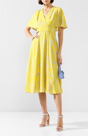 Женское шелковое платье ESCADA желтого цвета, арт. 5032889 | Фото 2