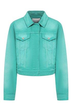 Женская джинсовая куртка KENZO бирюзового цвета, арт. FA52BL2316ES | Фото 1