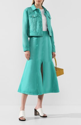 Женская джинсовая куртка KENZO бирюзового цвета, арт. FA52BL2316ES | Фото 2