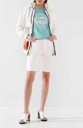 Женская хлопковая футболка KENZO бирюзового цвета, арт. FA52TS8244YI | Фото 2
