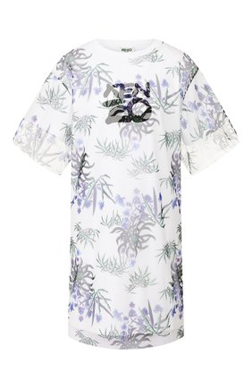 Женское хлопковое платье KENZO белого цвета, арт. FA52R0882907 | Фото 1
