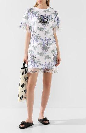 Женское хлопковое платье KENZO белого цвета, арт. FA52R0882907 | Фото 2