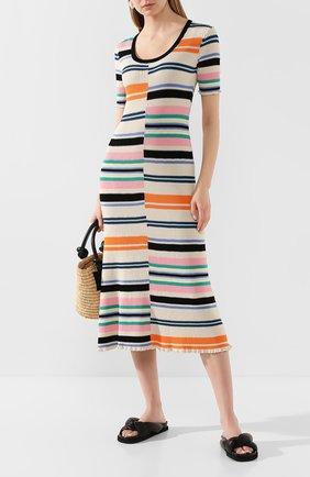 Женское платье-миди KENZO разноцветного цвета, арт. FA52R0516807 | Фото 2