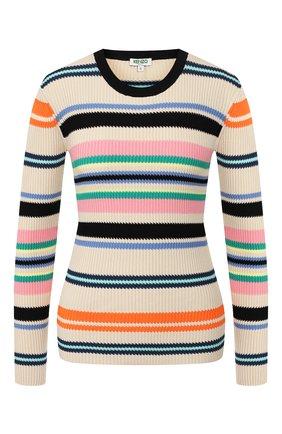 Женская пуловер KENZO разноцветного цвета, арт. FA52PU516807 | Фото 1