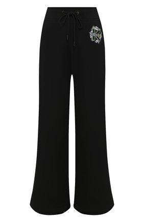 Женские хлопковые брюки KENZO черного цвета, арт. FA52PA718962 | Фото 1