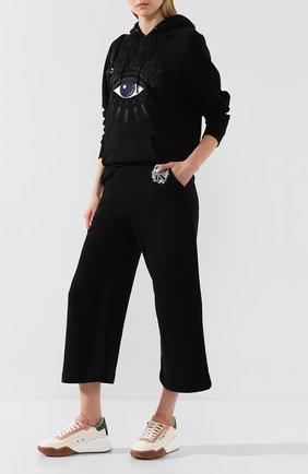 Женские хлопковые брюки KENZO черного цвета, арт. FA52PA718962 | Фото 2