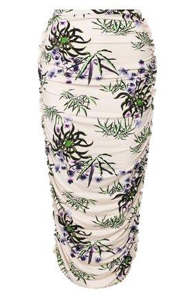 Женская юбка-миди KENZO белого цвета, арт. FA52JU790902 | Фото 1