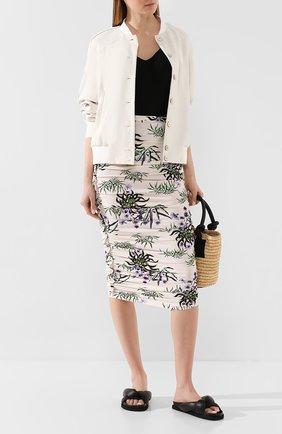 Женская юбка-миди KENZO белого цвета, арт. FA52JU790902 | Фото 2