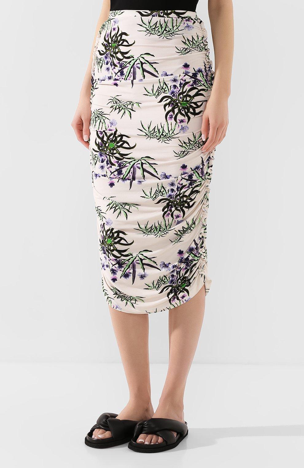 Женская юбка-миди KENZO белого цвета, арт. FA52JU790902 | Фото 3
