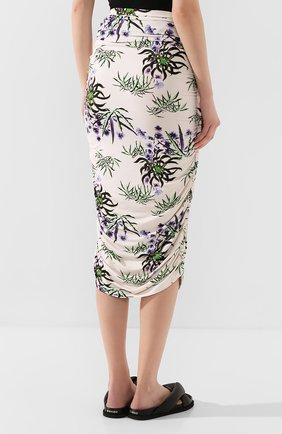 Женская юбка-миди KENZO белого цвета, арт. FA52JU790902 | Фото 4