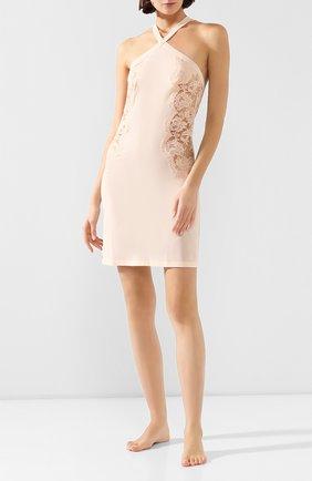 Женская шелковая сорочка LA PERLA розового цвета, арт. 0041910 | Фото 2
