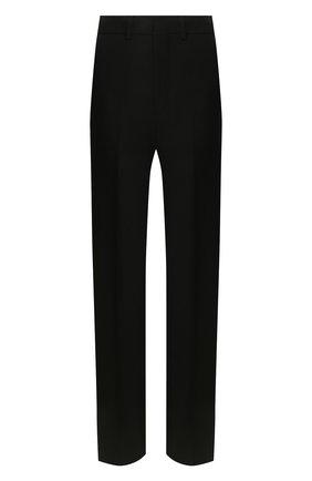 Женские шерстяные брюки AMI черного цвета, арт. E20FT405.237 | Фото 1