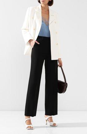 Женские шерстяные брюки AMI черного цвета, арт. E20FT405.237 | Фото 2