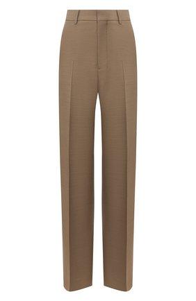 Женские брюки из смеси вискозы и шерсти AMI бежевого цвета, арт. E20FT405.232 | Фото 1