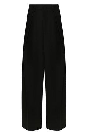 Женские шерстяные брюки AMI черного цвета, арт. E20FT404.237 | Фото 1