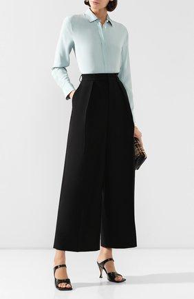 Женские шерстяные брюки AMI черного цвета, арт. E20FT404.237 | Фото 2