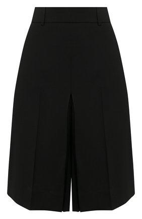 Женские шерстяные шорты AMI черного цвета, арт. E20FT301.207 | Фото 1