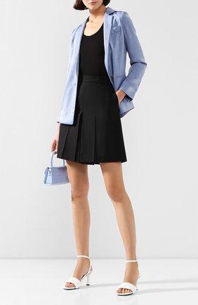 Женские шерстяные шорты AMI черного цвета, арт. E20FT301.207 | Фото 2
