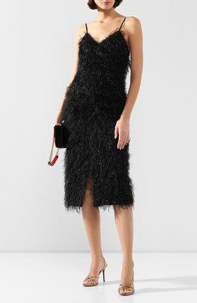 Женская юбка AMI черного цвета, арт. E20FSK100.250 | Фото 2