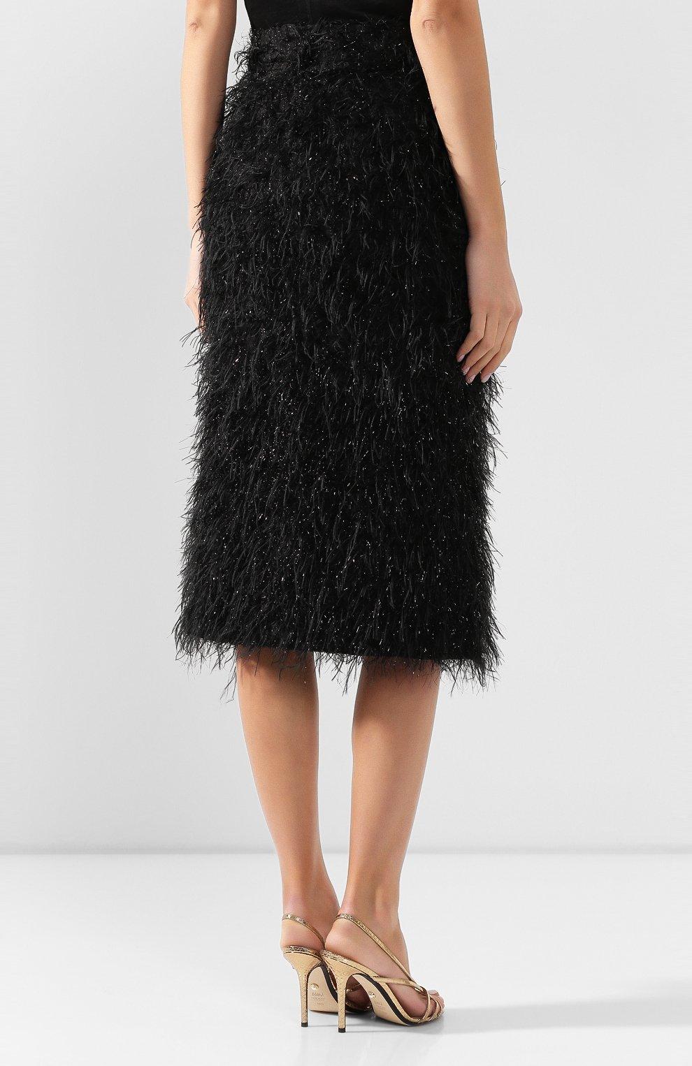 Женская юбка AMI черного цвета, арт. E20FSK100.250 | Фото 4